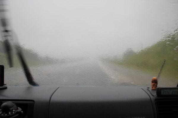 Leider beschützt uns der Schutzengel nicht vor schlechtem Wetter...