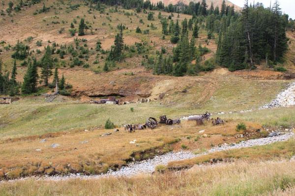 Überreste einer Mine