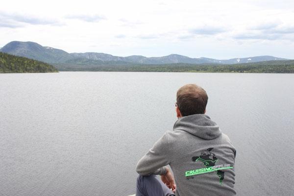 Blick über den Trout River Pond
