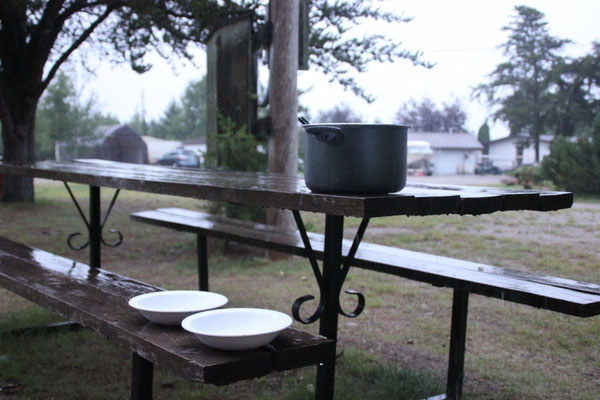 Outdoor-Regen-Abwaschmaschine