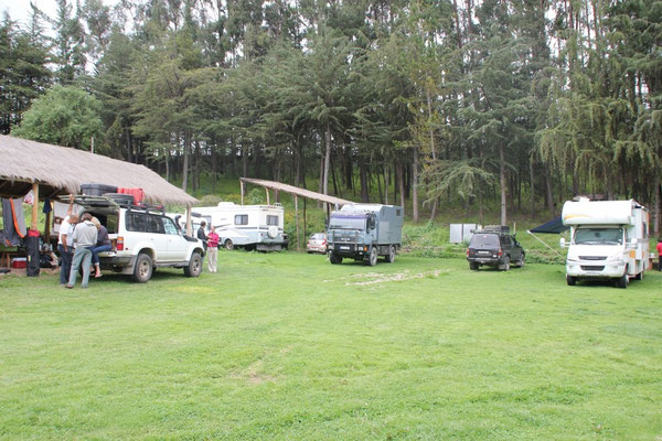 Auf dem Camping Quinta Lala in Cusco.