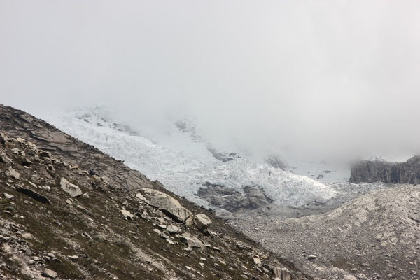 Hier findet man viele Gletscher.