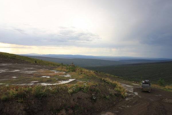 Die Aussicht war aber trotz Wolken noch ziemlich schön.