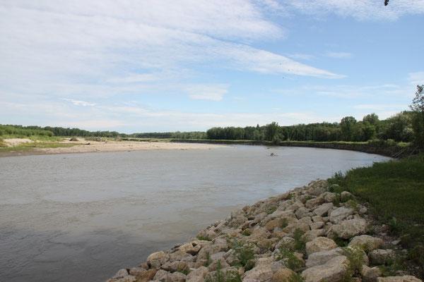 Der Assiniboine River hat vor vielen Jahren ein riesiges Sanddelta geschaffen.