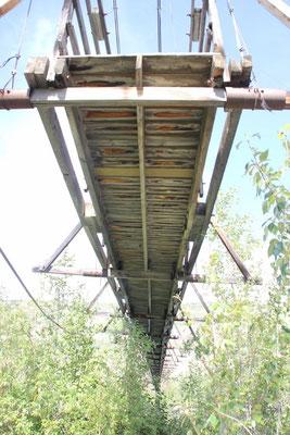 über die Brücke laufen durfte man aber leider nicht