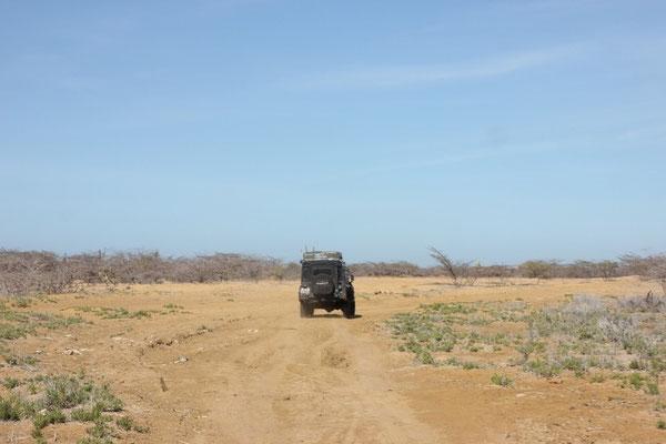 Und mitten durch die Wüste...