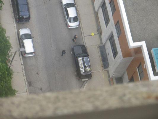 Warum schleicht die Polizei um unser Auto?