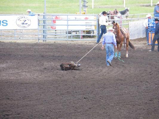 ... und dann stolziert der Cowboy davon.