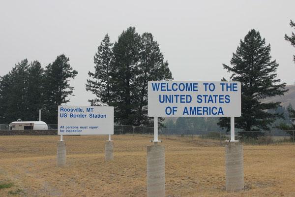 Grenzposten bei Roosville