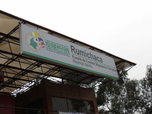 Die kolumbianische Grenze bei Rumichaca.