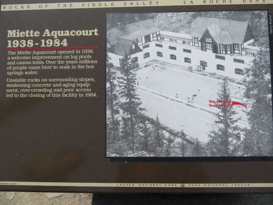 Früher sah das Bad der Miette Hot Springs so aus.