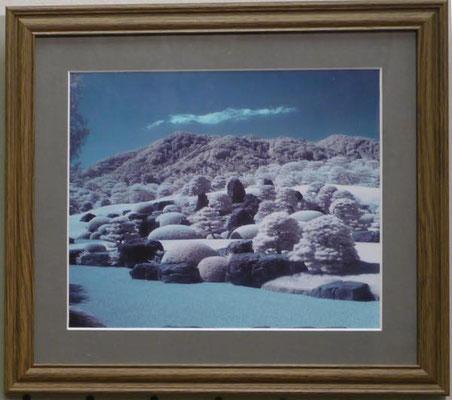 竹田辰興:枯山水庭(安来市足立美術館、赤外線写真)