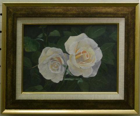 斎藤春枝:(和紙ちぎり絵)薔薇