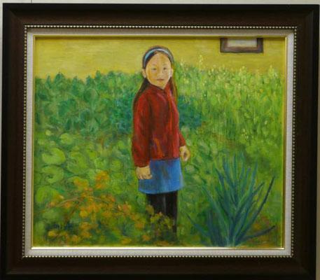 池田美代:野菜畑に立つ