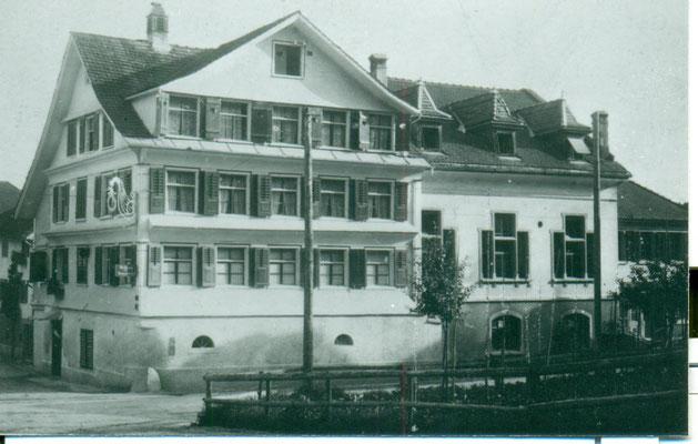 Rest. Traube, Balgach. Aufnahme undatiert, ca. 1930. Archiv Grünenfelder.