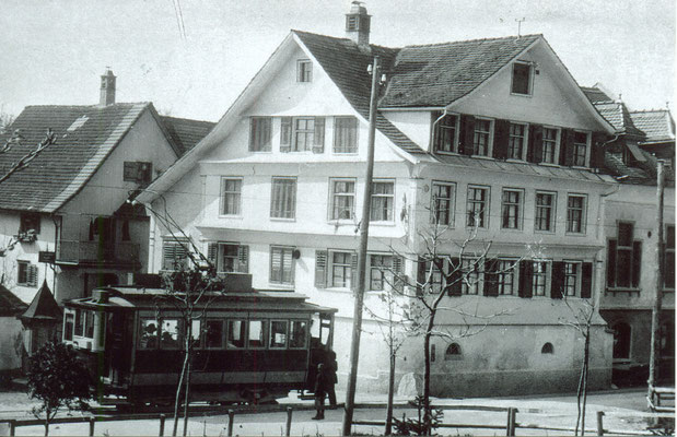 Rest. Traube, Balgach. Aufnahme undatiert, ca. 1920. Archiv Grünenfelder.