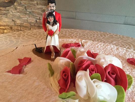 cake topper matrimonio artigianato fimo