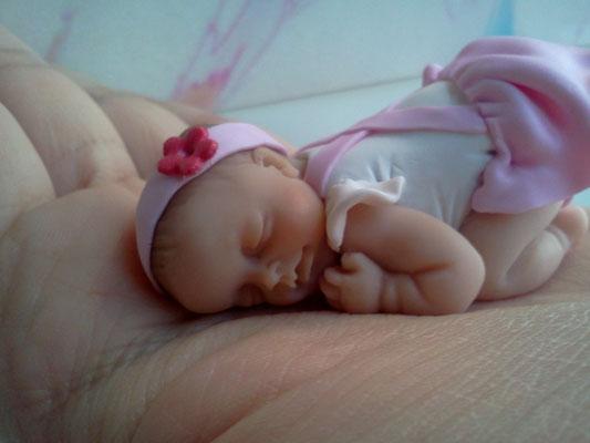 bomboniera battesimo cornice neonato fimo FIMOCHEPASSIONE