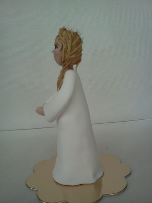 cake topper cresima in FIMO, FIMOCHEPASSIONE