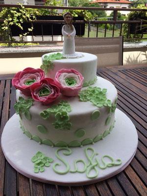 cake topper  comunione in fimo