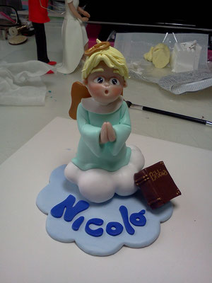 cake topper comunione fimo FIMOCHEPASSIONE