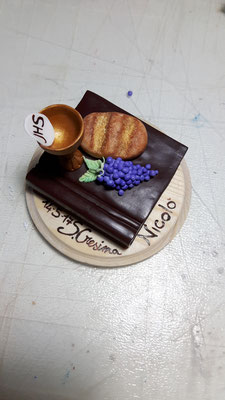 cake topper cresima fimo FIMOCHEPASSIONE