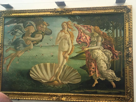 Botticellis Geburt der Venus füllt eine ganze Wand