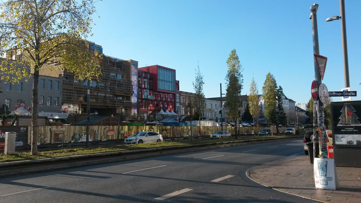 Spielbudenplatz im Umbau Novembertag