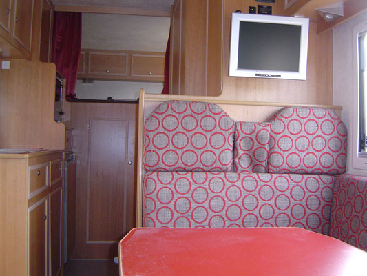 Interieur alkoof camper