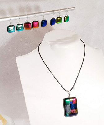 pendentif  bijou verre