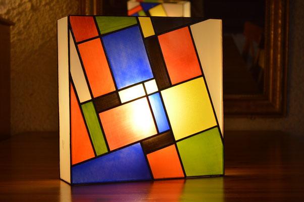 Lampe carrée