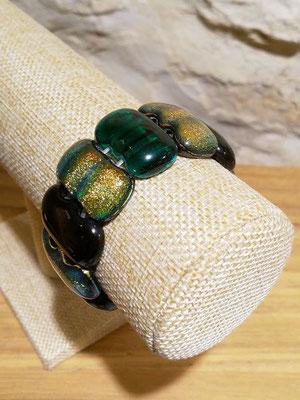 Bracelet élastique verre métallisé