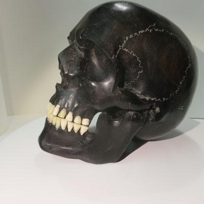 crâne ebene  18 cm de haut  ref  8132