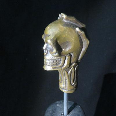 1639 pommeau de canne bronze
