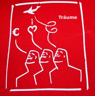 T-Shirt Motiv Träumer (Träume variieren). Klimaneutral, fair und bioologisch produziertes Textil