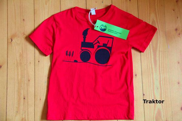 T-Shirt Motiv Traktor. Klimaneutral, fair und bioologisch produziertes Textil