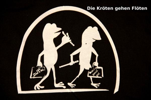 T-Shirt Motiv Die Kröten gehen flöten (Lruchen beim Shoppen). Klimaneutral, fair und bioologisch produziertes Textil