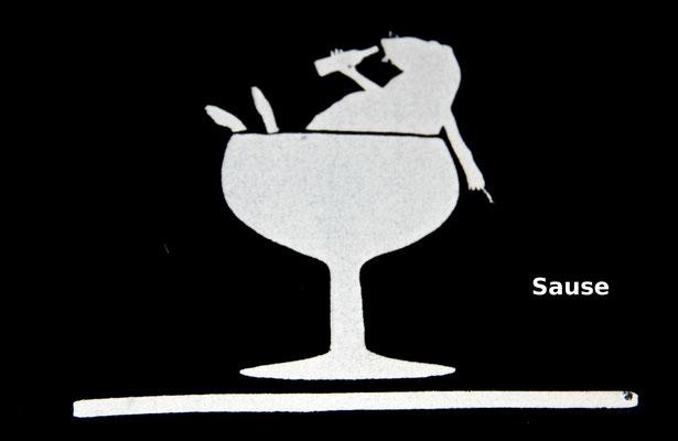 T-Shirt Motiv Sause (Ratte im Weinglas).  Klimaneutral, fair und bioologisch produziertes Textil