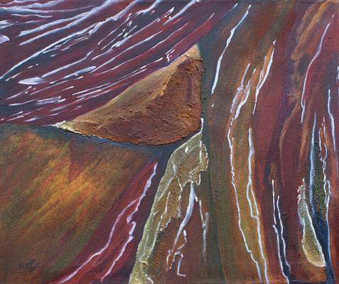 Triebkräfte der Erde III / Mischtechnik / 60 x 50 cm / 2015