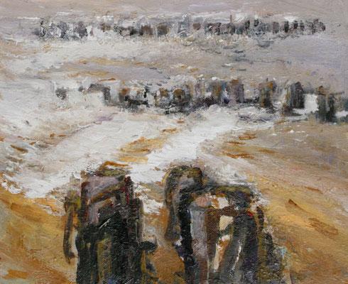 """""""ellenbrecher,2011,50x60, Acryl / Hartfaser"""