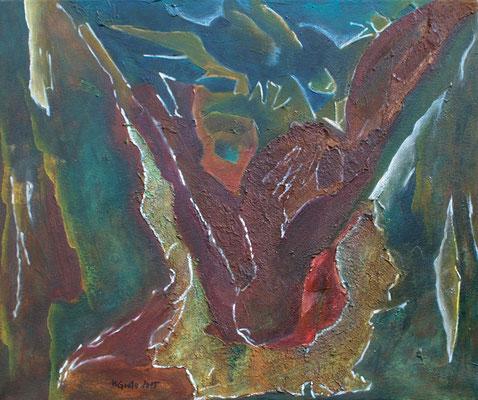 Triebkräfte der Erde IV / Mischtechnik / 60 x 50 cm / 2015