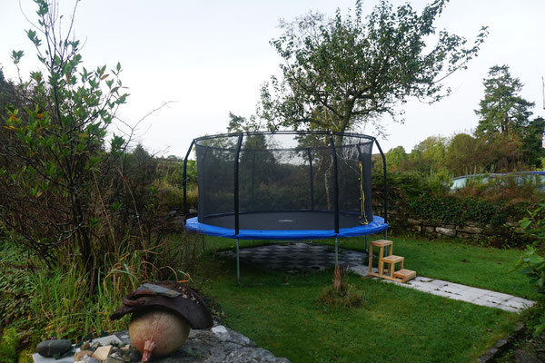 14ft trampolin for the kids