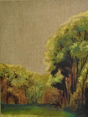 43 x 33 cm. öl auf (Natur braun) Leinwand. (Verkauft)