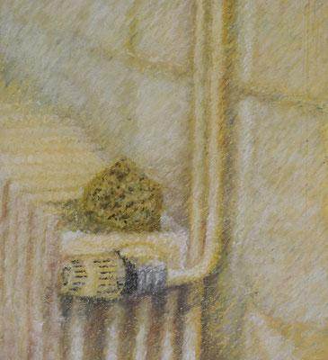 Radiator & Schwamm, 42,5 x 42,5 cm.