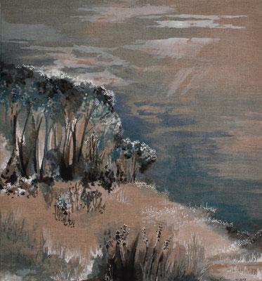 Vollmond, 80 x 75 cm. öl auf Leinwand. 500 CHF.