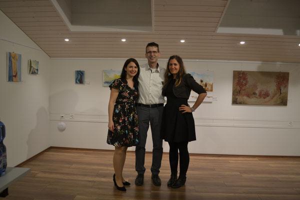Sabrina Haeber, Peter Gammenthaler und Nadia Simmen. Vernissage 31. Januar 2020. Kulturschopf in Zeiningen.