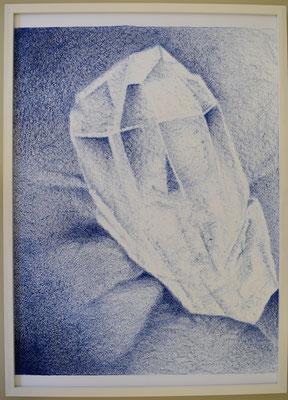 Kristall (Original Stein ca. 5 cm. Grösse). Von Auge vergrössert, 72,5 x 52,5 cm. Bild
