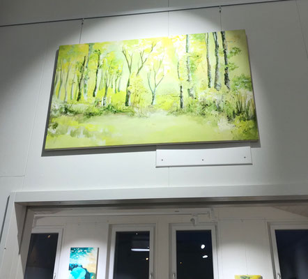 April Wald. 58,5 x 97,5 cm. Öl und Strukturpaste auf Leinwand. 1200 CHF.