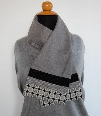 écharpe en laine création textile Ines Cano