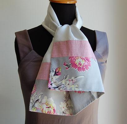foulard de créateur foulard fantaisie en tissu création textile artisanale Inés Cano